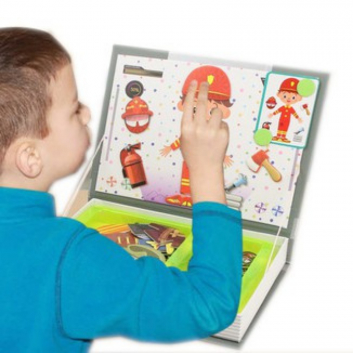 Joc educativ, Carte magnetica, Role Play, Meserii, 101 piese magnetice [3]