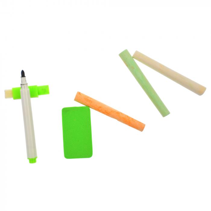 Jucarie de invatat, tablita creta si marker, matematica, alfabet, citire ceas - MMM380 [5]