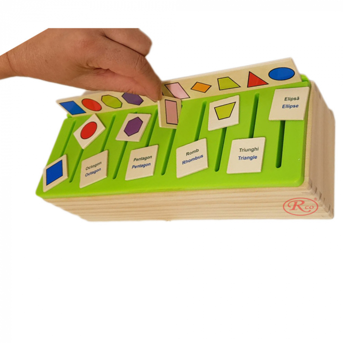 Sortator Montessori cu 88 de piese in limba Romana, multicolor [3]