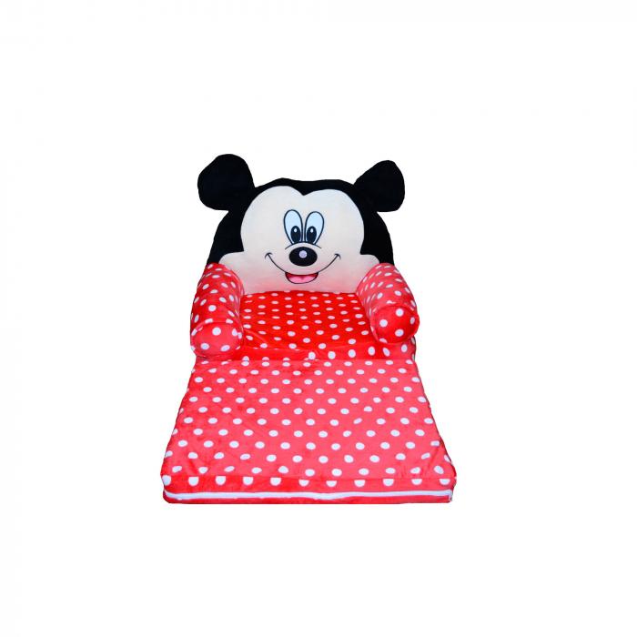 Fotoliu din plus extensibil Mickey Mouse cu buline [0]