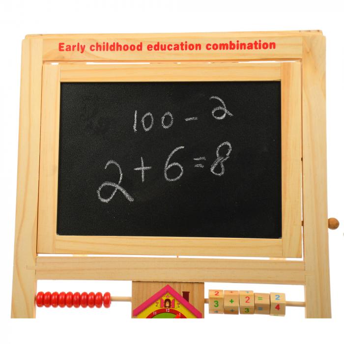 Jucarie de invatat, tablita creta si marker, matematica, alfabet, citire ceas - MMM380 [2]