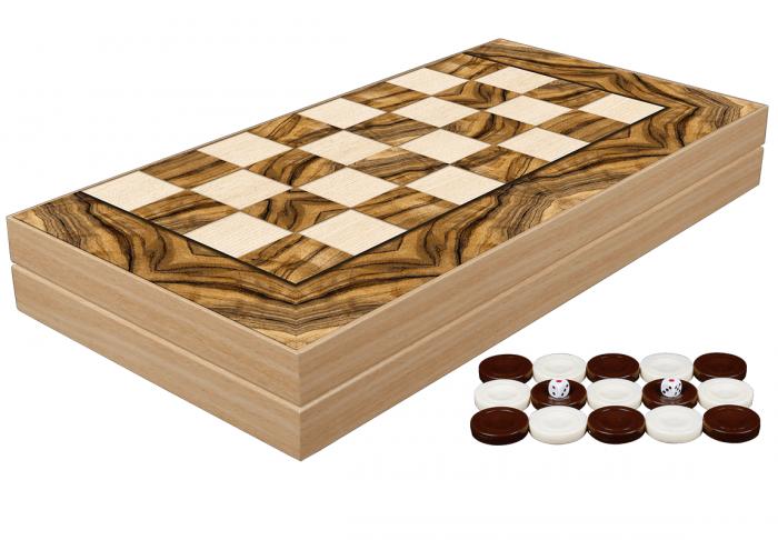 Set de Table din lemn lacuit, 50x50 cm, Olive Burl [0]