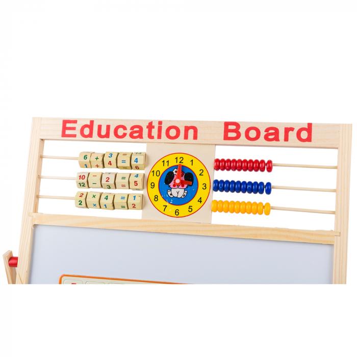 Tabla de scris din lemn, magnetica, educativa cu doua fete si suport, 64x47 cm, L15-6 [2]