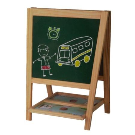 Tabla educativa din lemn, 3 in 1 sevalet, 51x34, Toyska [1]