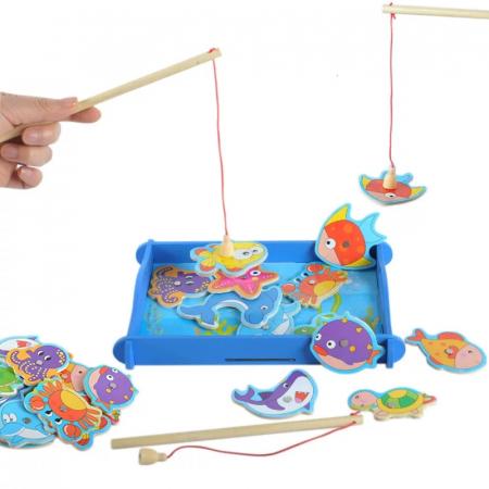 Joc educativ din lemn Pescuit Magnetic, Toyska [0]