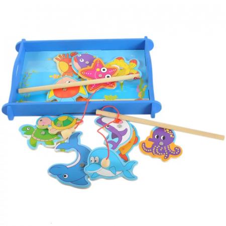 Joc educativ din lemn Pescuit Magnetic, Toyska [3]