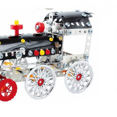 Set Constructie Metalic, Locomotiva, Magical Model, 353 piese, Toyska [1]