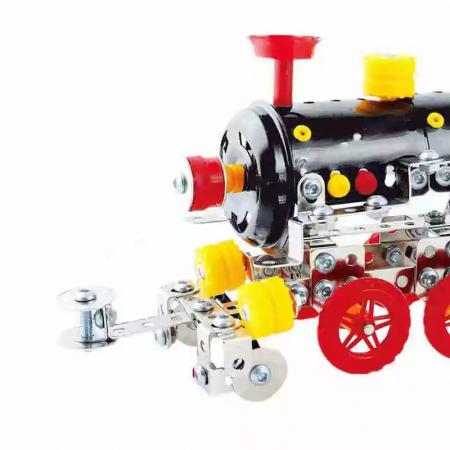 Set Constructie Metalic, Locomotiva, Magical Model, 353 piese, Toyska [2]