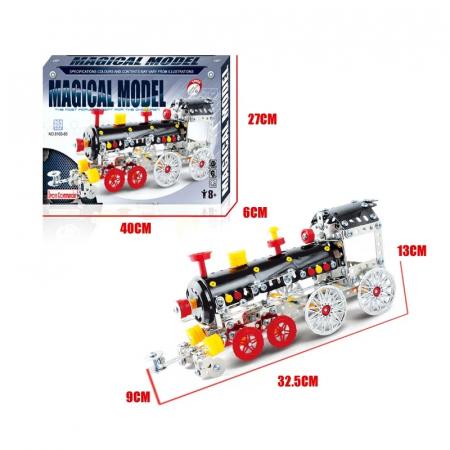 Set Constructie Metalic, Locomotiva, Magical Model, 353 piese, Toyska [3]