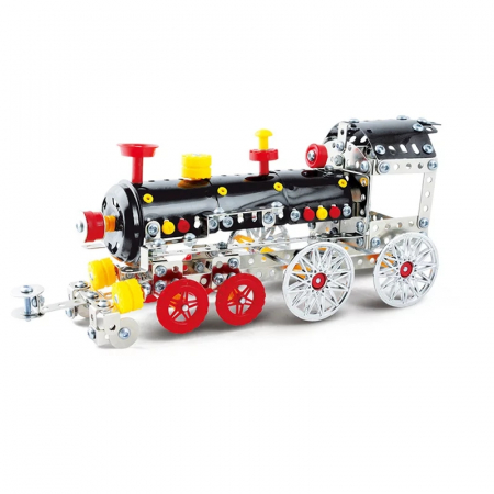 Set Constructie Metalic, Locomotiva, Magical Model, 353 piese, Toyska [0]