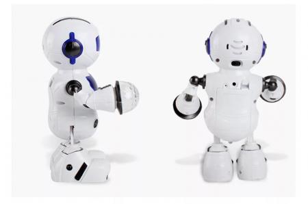 Robot dansator cu sunete si lumini, Albastru, Toyska [1]