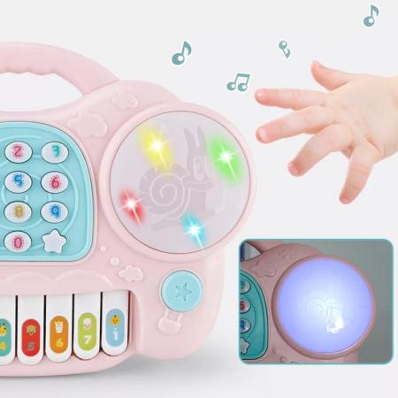 Jucarie muzicala Telefon si Orga, Roz, Toyska [2]