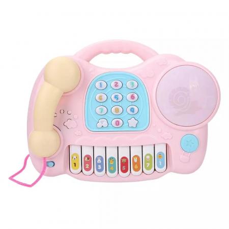 Jucarie muzicala Telefon si Orga, Roz, Toyska [0]