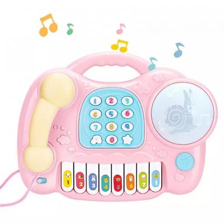 Jucarie muzicala Telefon si Orga, Roz, Toyska [1]