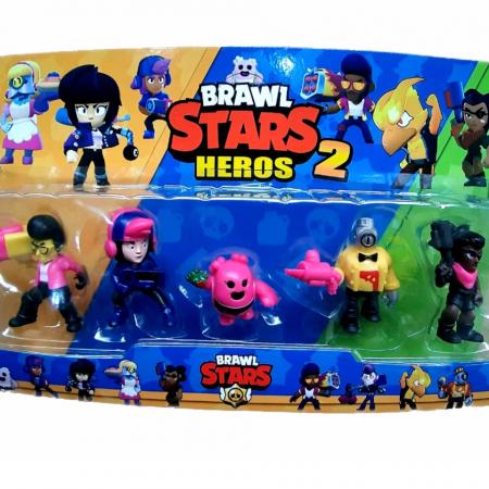 Figurine Brawl Stars Heros 2, set 5 eroi , Toyska [1]