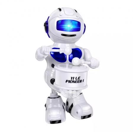 Robot dansator,cu lumini si sunete , Albastru, Toyska [0]