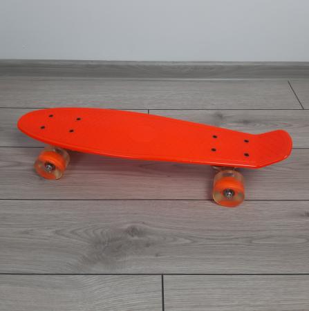 Penny Board cu roti luminoase LED, 55 cm, Portocaliu, Toyska [1]