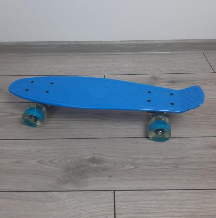 Penny Board cu roti luminoase LED, 55 cm, Albastru [3]