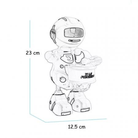 Robot dansator,cu lumini si sunete , Albastru, Toyska [1]