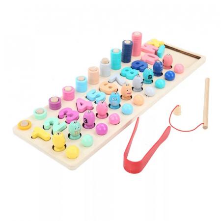 Joc lemn Matematica 4 in 1, Dexteritate, Pescuit Magnetic, Toyska [0]