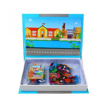 Joc educativ Carte magnetica cu piese puzzle, Traffic Spell, Toyska [2]