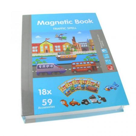 Joc educativ Carte magnetica cu piese puzzle, Traffic Spell, Toyska [0]