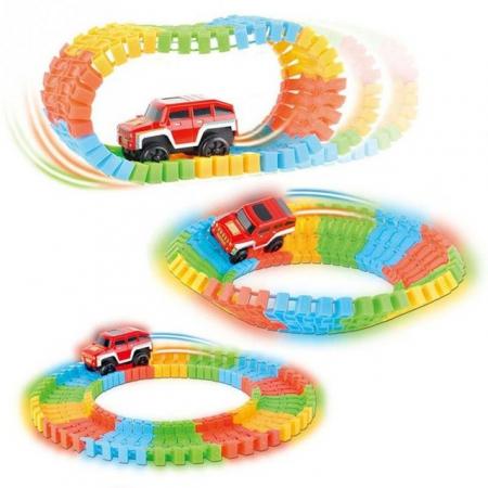 Pista Flexibila Magic Tracks, 220 Piese + Masinuta cu LED, Toyska [2]