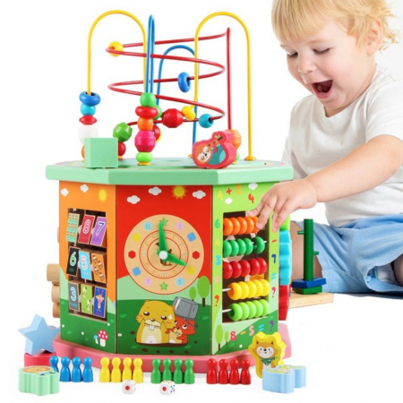 Centru educativ din lemn cu activitati 10 in 1, Toyska [4]