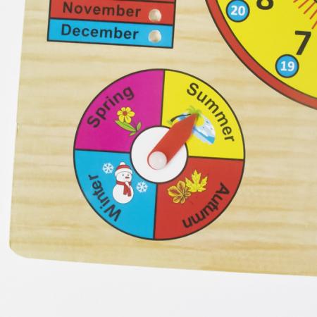 Calendar si Ceas in limba Engleza, lemn, Montessori, Toyska [2]