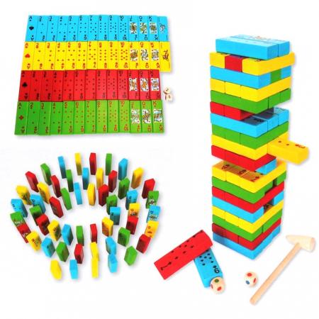 Joc de Inteligenta Domino, 54 piese, Toyska [0]
