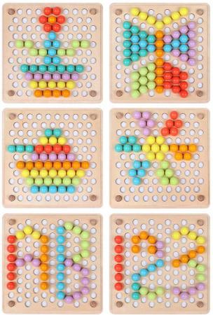 Joc Montessori de indemanare si asociere culori, Toyska [1]