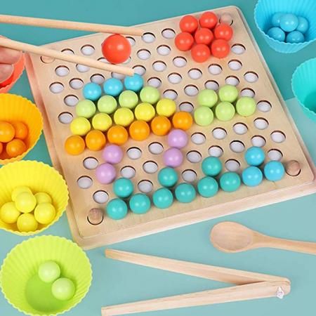Joc Montessori de indemanare si asociere culori, Toyska [4]