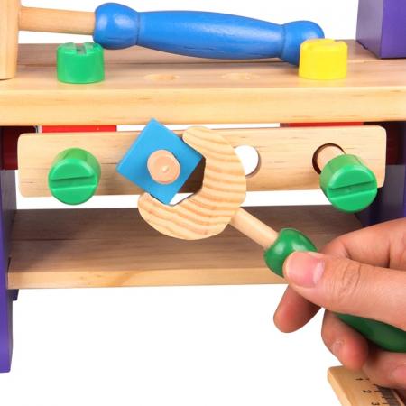 Jucarie Banc de Scule, 36 piese, lemn, Toyska [3]