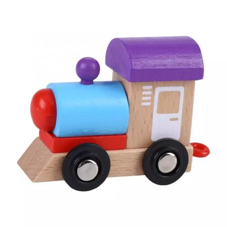 Tren din lemn cu vagoane cifre de la 0 la 9, Toyska [2]