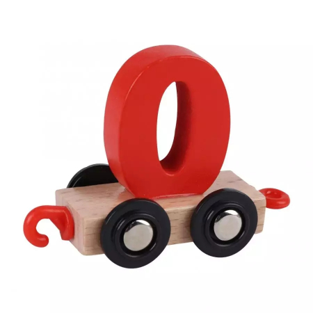 Tren din lemn cu vagoane cifre de la 0 la 9, Toyska [3]