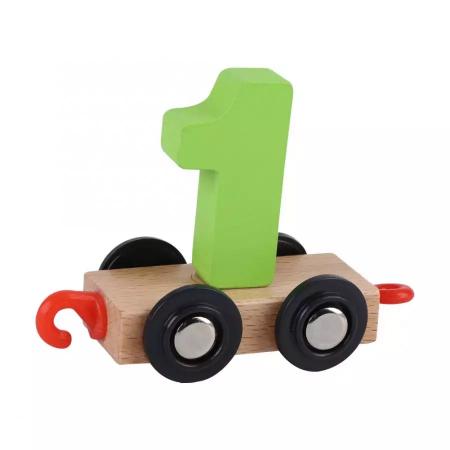 Tren din lemn cu vagoane cifre de la 0 la 9, Toyska [4]