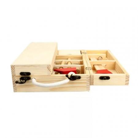 Trusa de scule din lemn Montessori, 25 piese, Toyska [2]