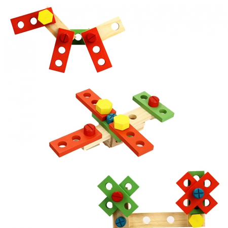 Trusa de scule din lemn Montessori, 25 piese, Toyska [4]