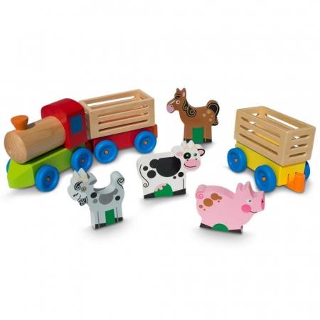 Trenulet din lemn, Ferma Animalelor, Toyska [1]