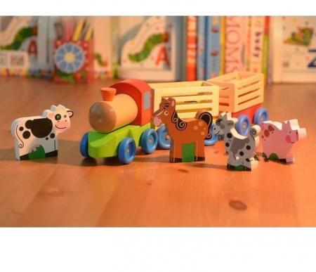 Trenulet din lemn, Ferma Animalelor, Toyska [2]