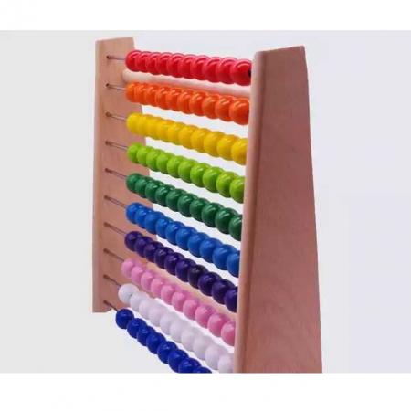 Numaratoare din lemn, Abac, bile colorate, Toyska [2]