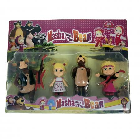 Set de joaca Masha si Ursul, 4 figurine, Toyska [0]