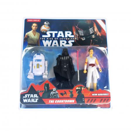 Set 3 figurine Star Wars, R2-D2, Darth Vader, Rey, Toyska [1]