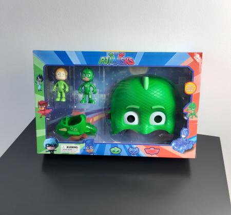 Set Eroi in Pijama figurine, masina si masca, Sopi, Toyska [0]