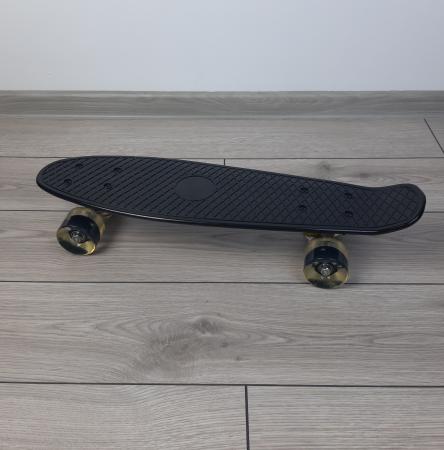 Penny Board cu roti luminoase LED, 55 cm, Negru, Toyska [2]