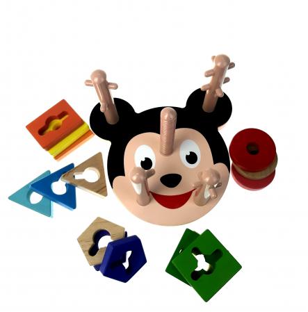 Sortator Montessori forme geometrice, 5 coloane, Toyska [1]