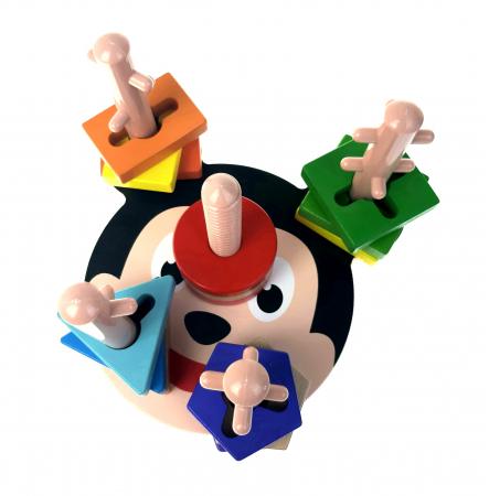 Sortator Montessori forme geometrice, 5 coloane, Toyska [4]