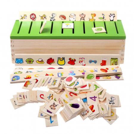 Cutie sortatoare Montessori cu 88 de piese, Toyska [0]