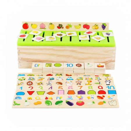 Cutie sortatoare Montessori cu 90 de piese, multicolor [3]