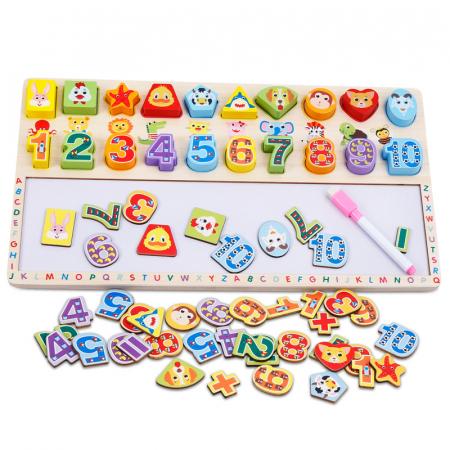 Tabla 3 in 1 Cifre si forme, 40x23, Toyska [0]